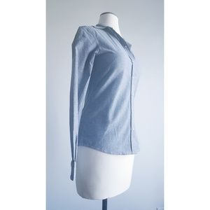 Shabby Apple Afternoon Chambray Denim Button Top